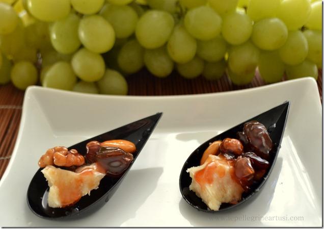 caramello di uva e frutta secca