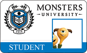 Terry Perry Monsters University Student Identification Card