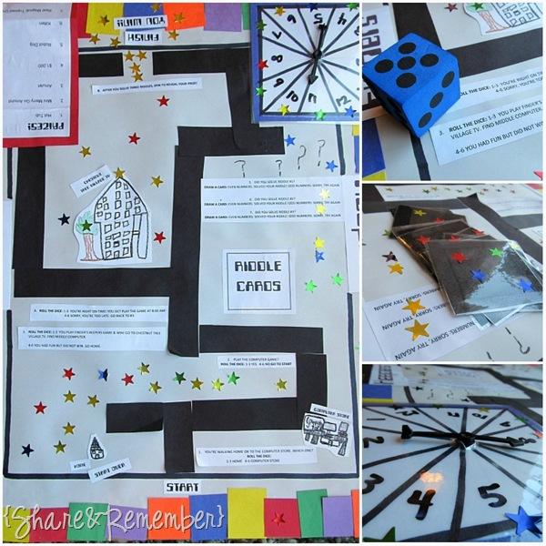 book report board games ideas