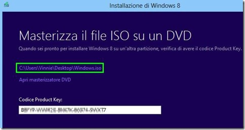 Masterizzare file ISO di Windows 8