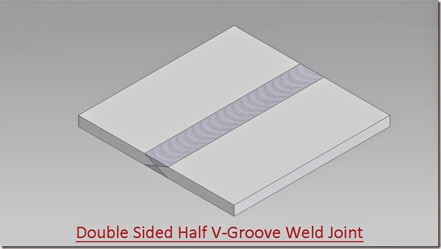 Double Sided Half V-Groove Weld Joint