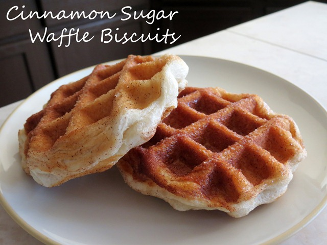 cinnamon sugar waffle biscuits fast cheap easy 3