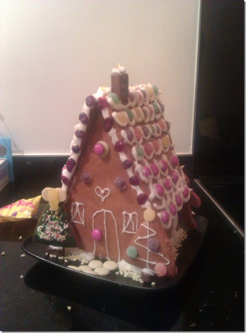 Pretty gingerbread house