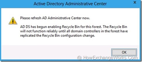 Windows server 2008 ad recycle bin