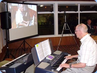 John Beales playing his Korg Pa500