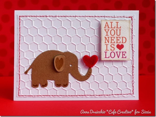 cafe creativo - Anna Draicchio - sizzix big shot - card elephant love (1)