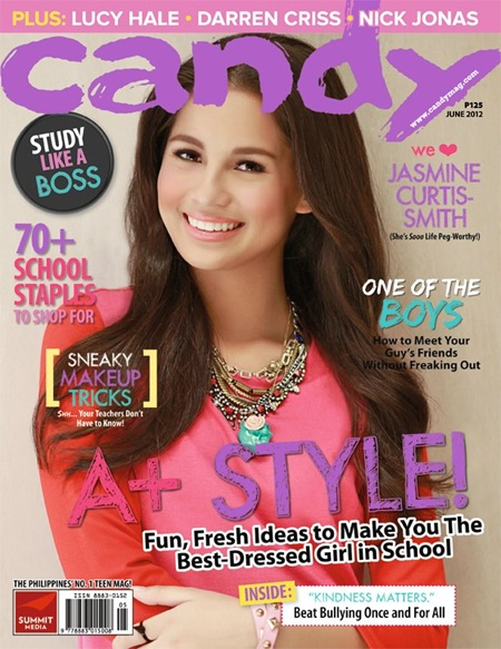 Jasmine Curtis-Smith on Candy June 2012