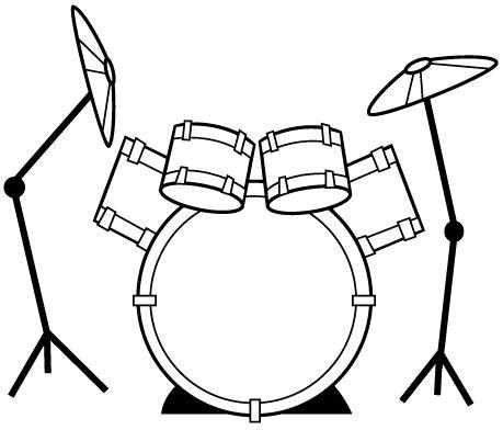 Desenho baterista para colorir for Como dibujar una cocina