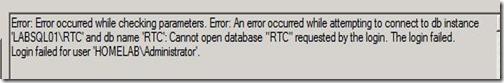 Lync Stress - Server - Database