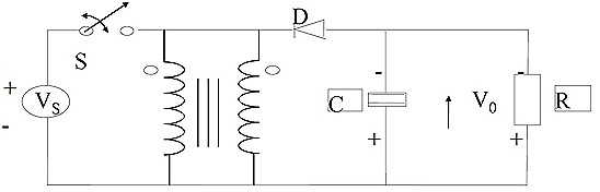 Inductor L may be produced by 2 windings in parallel on same core