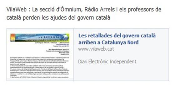 Fin de las ajudas del sud per la lenga catalana