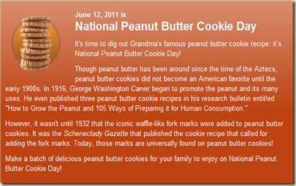 peanut butter cookie day