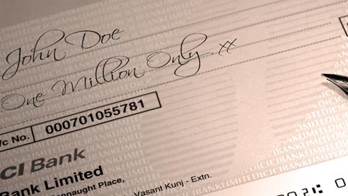 1,000,000 cheque