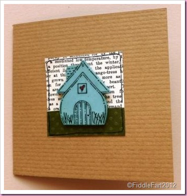 Kraft card New House card