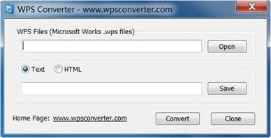 Free WPS File Converter