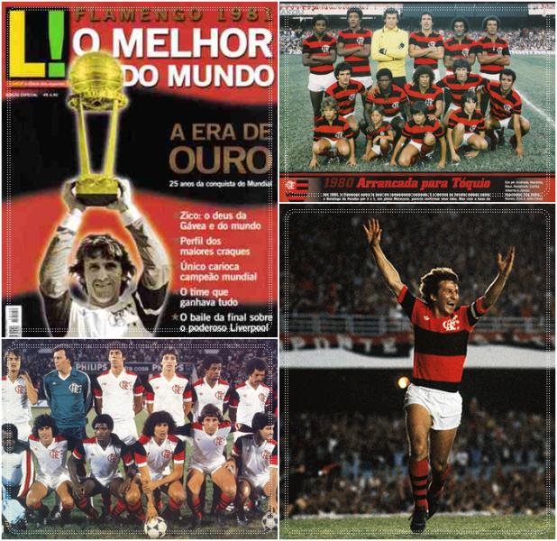 Flamengo campeão da Libertadores e Mundial de Interclubes em 1981