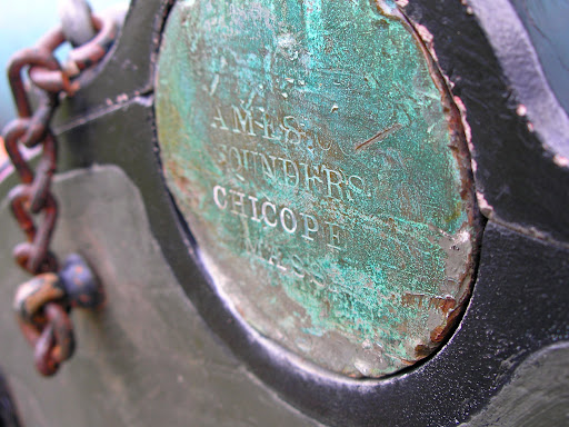 The time and battle worn founders mark on the cannon at Sigel's position. (Photo credit: Jeremy Shreckhise)