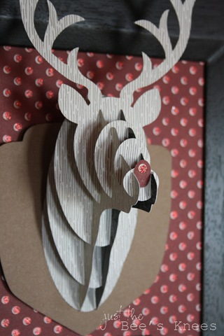 3D Rudolph ~ Just The Bee's Knees