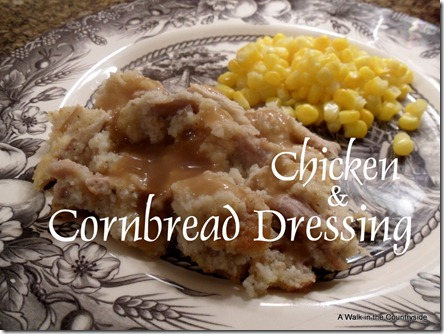 Basic Chicken & Cornbread Dressing @ A W alk in the Countryside