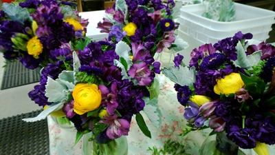 purple and yellow wedding flowers | Ideas in Bloom