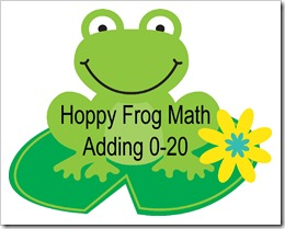 Hoppy Frog math  FREE DOWNLOAD by www.livinglifeintentionally.blogspot.com