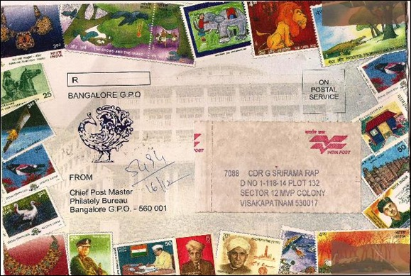 Special envelope of Philatelic Bureau Bangalore