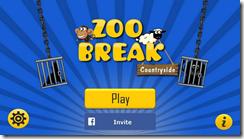 الواجهة الرئيسية للعبة الهروب من حديقة الحيوان Zoo Break للأندرويد