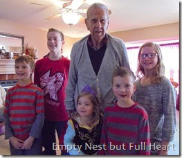 Great grandpa with the grands