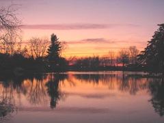 11.2011 Maine Raymond sunset1