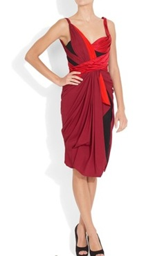 Zac Posen red cocktail dress