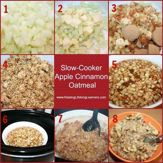 Apple Oatmeal Steps