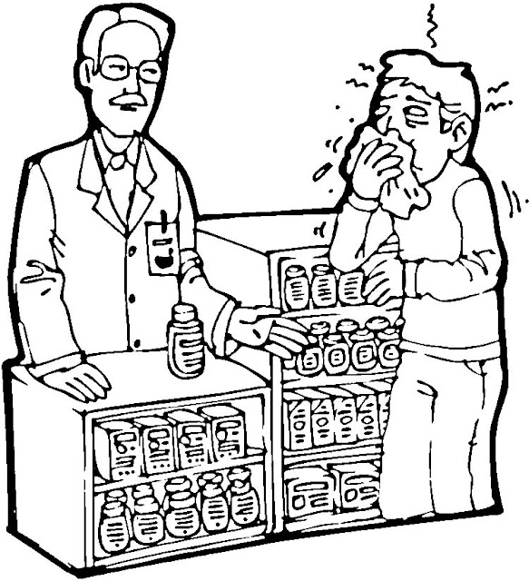 coloring pages pharmacist - photo#15
