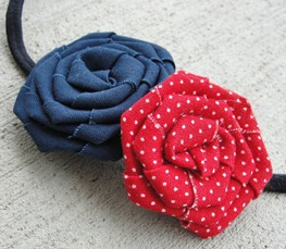 Prettylicious Navy &amp; Red Headband