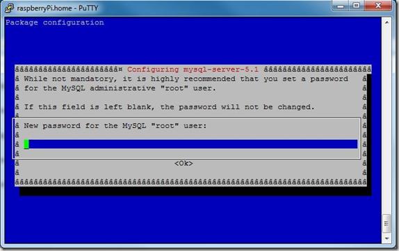 root password for MySQL