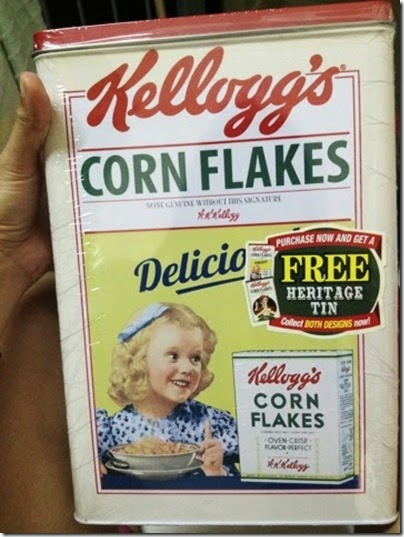 Kellogg's Cornflake vintage tin can