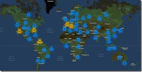 Maailmanlaajuista c&c tilastoa