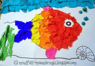 Rainbow Fish Collage from Artsy Craftsy Mom