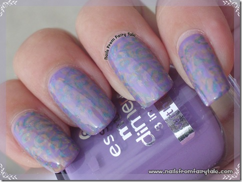 pastel multistamping leopard print