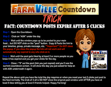 Farmville Countdown Trick