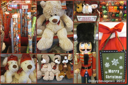 xmas display collage