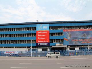 – Siège de la Ceni à Kinshasa. Radio Okapi/ Ph. John Bompengo