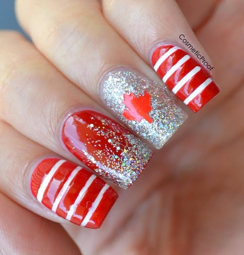 Canada Day nails nail art