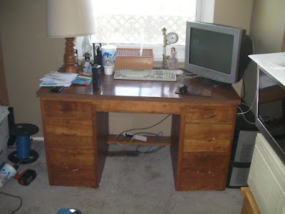 The desk my dad made when he was in high school.