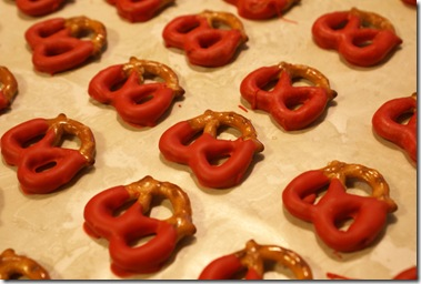 Pretzels in Red