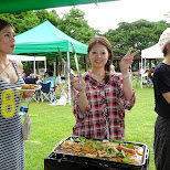 the girls on the BBQ in Tokyo, Tokyo, Japan