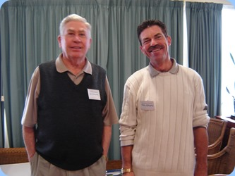 JIm Nicholson and Peter Littlejohn. Photo courtesy of Delyse Whorwood.