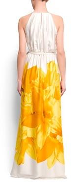 Flower halter dress1