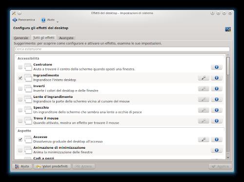 KDE - gestore effetti KWin