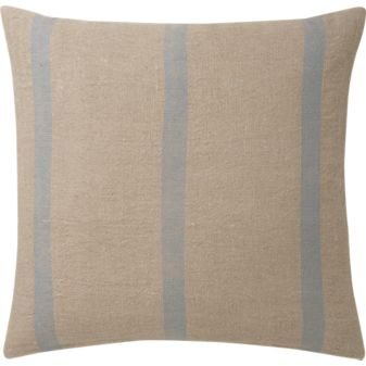 The light blue stripes on this pillow remind me of a summer sky.  (cb2.com)