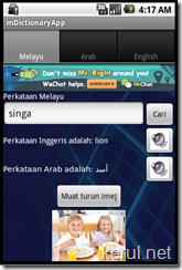 Multimedia Dictionary app for Android  with Source codes - english-malay-arabic